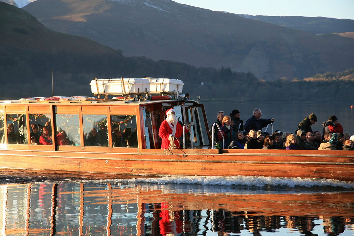 Christmas Cruises.Father Christmas Cruises Keswick Launch Co