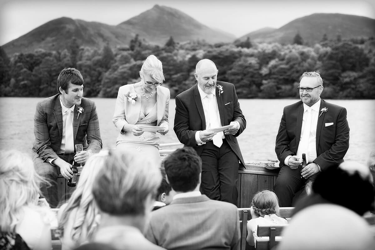 Wedding on Keswick Launch and Derwentwater