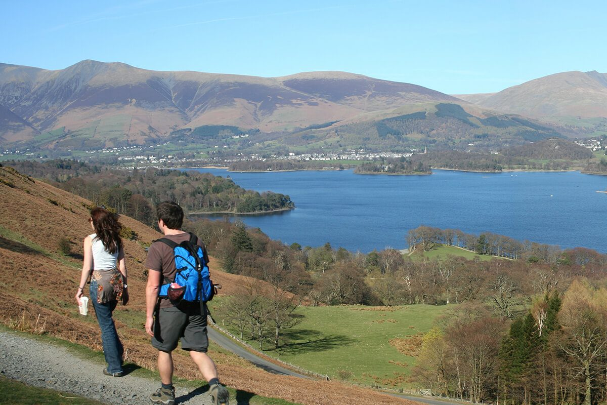 The road along the side of Catbells