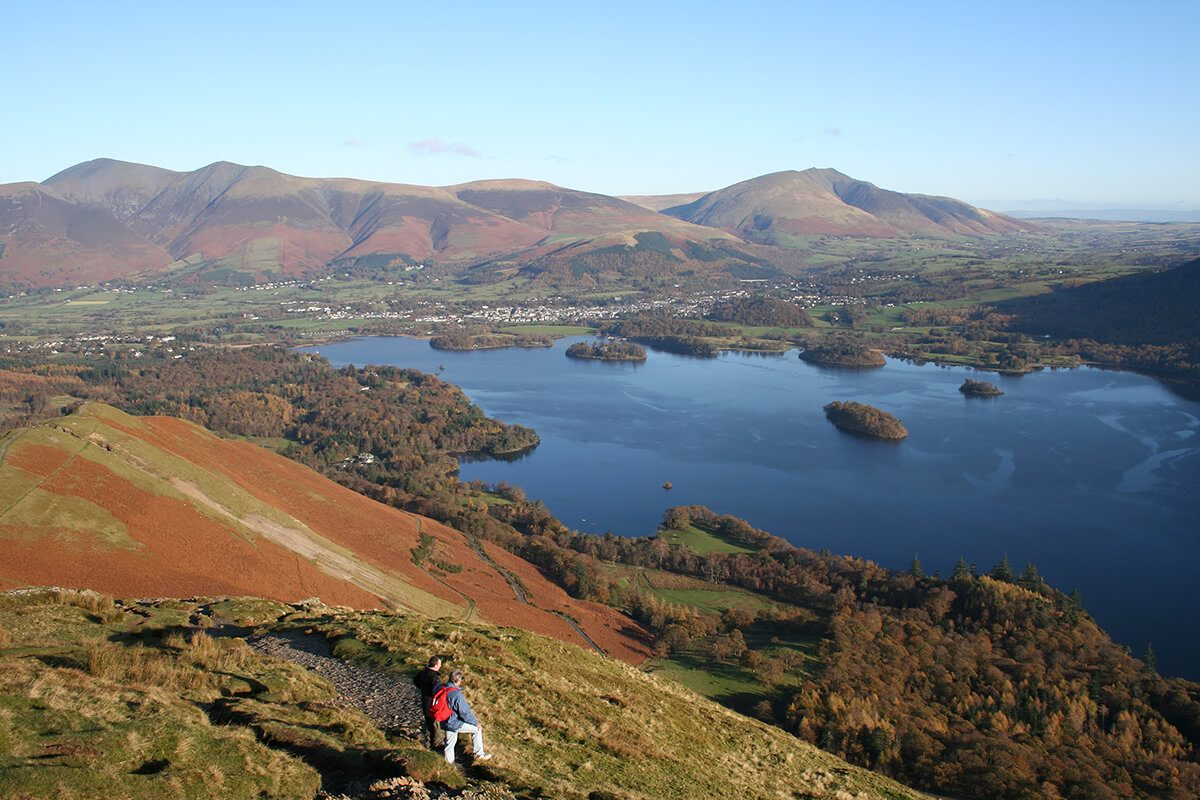 The views from Catbells change with the seasons