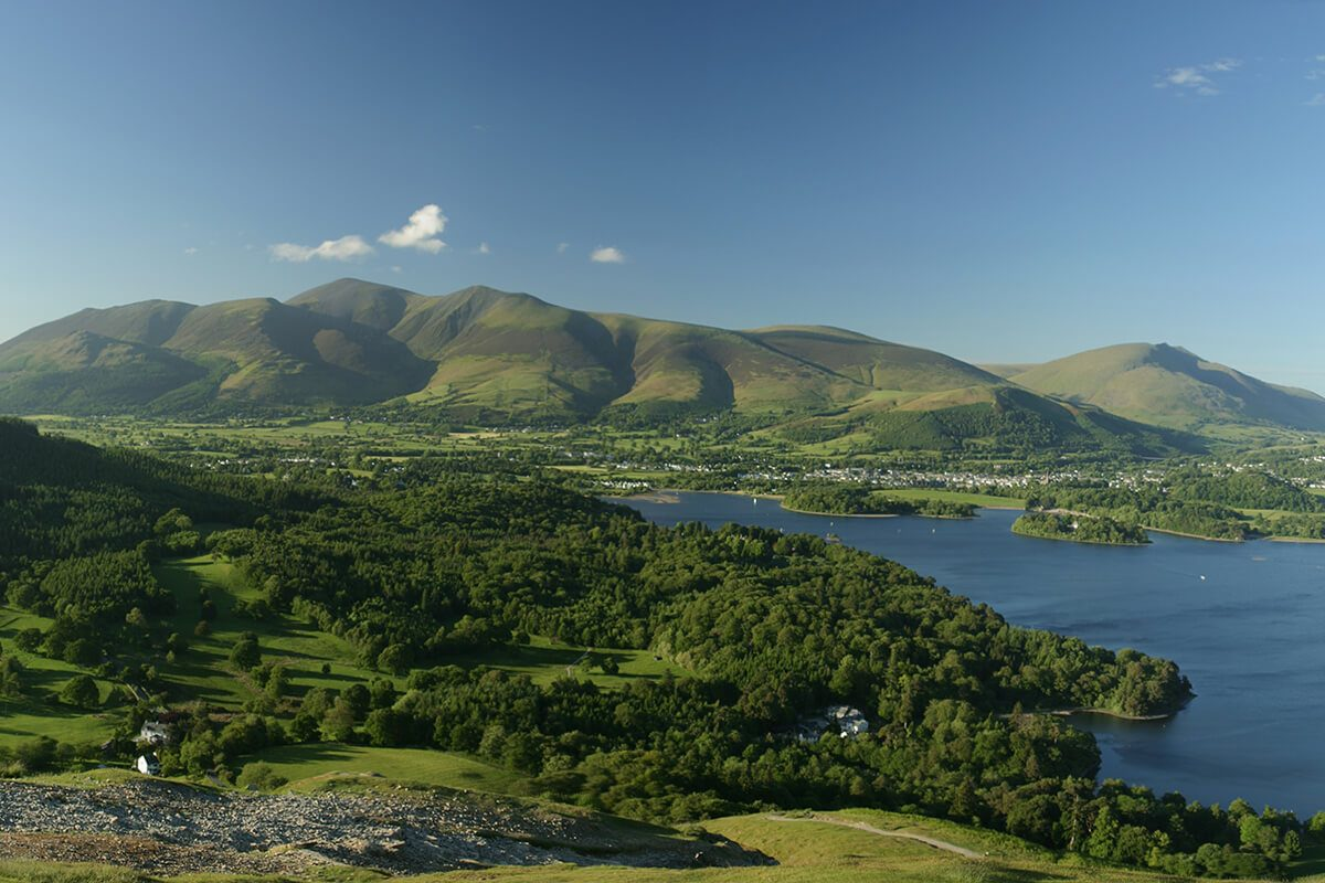 Catbells summit looking onto Skiddaw and Blencathra