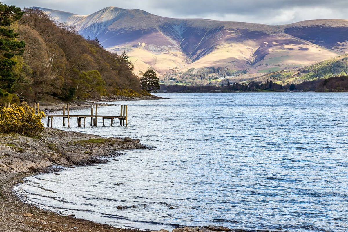 Looking across Derwentwater towards Skiddaw