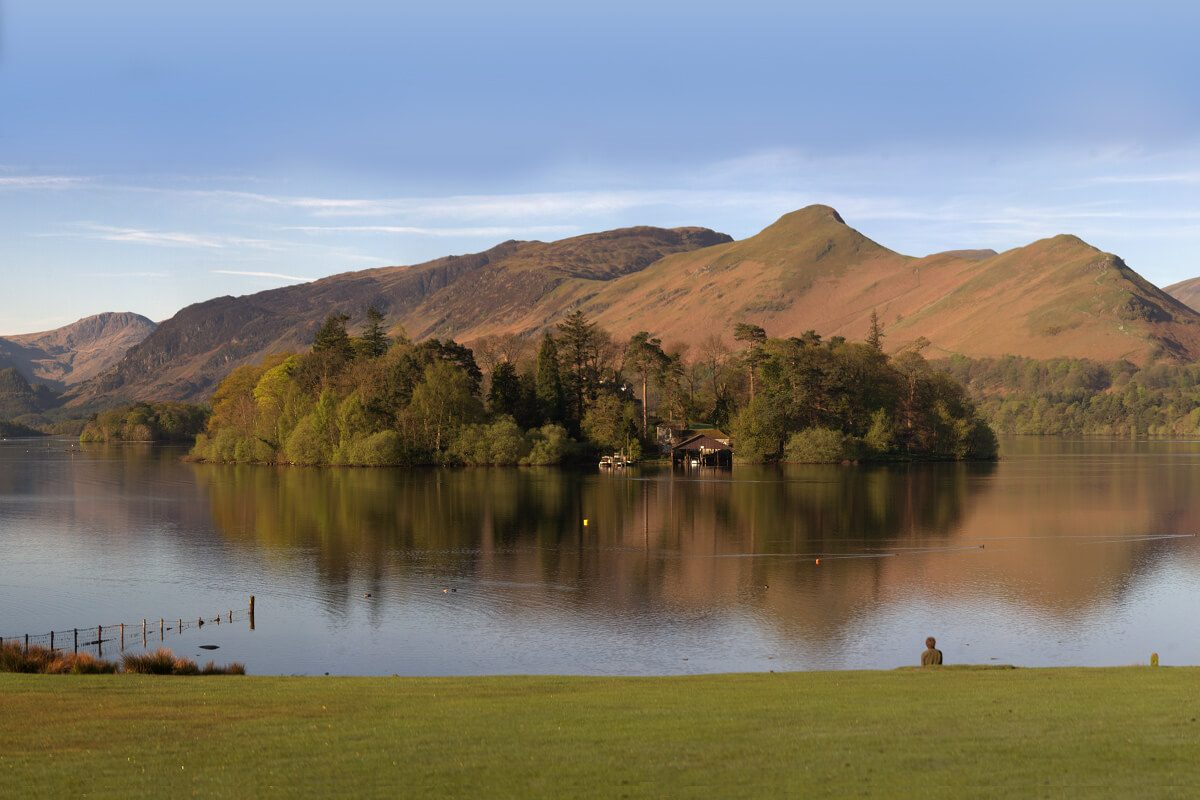 Derwent Island and Catbells from Crow Park