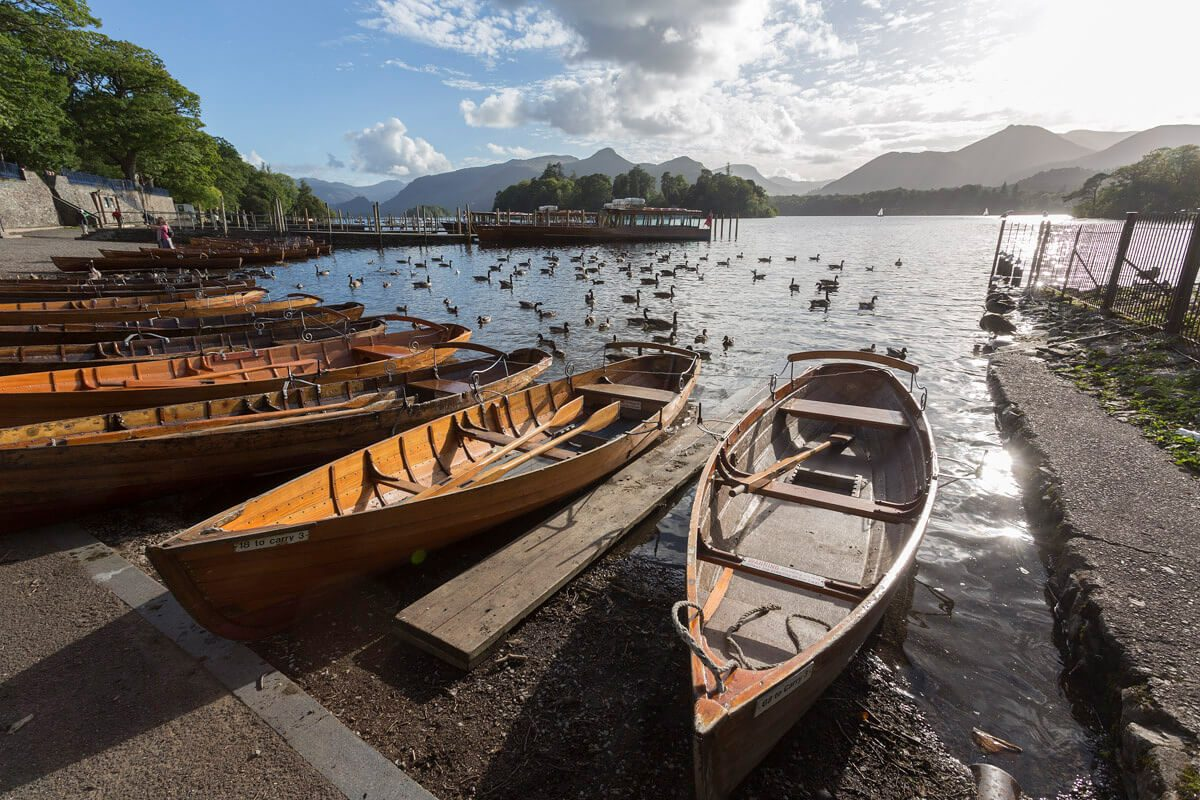 Hire a rowing boat and explore at your own leisure