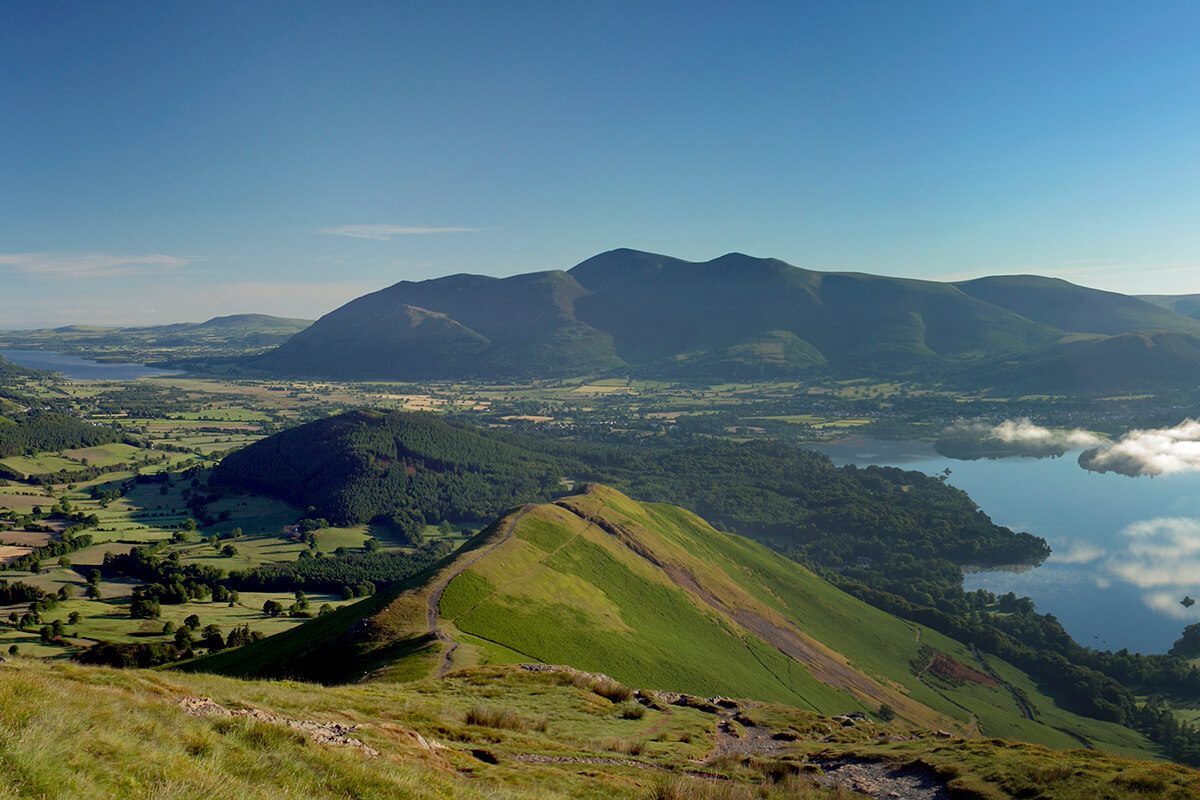 View from the summit of Catbells