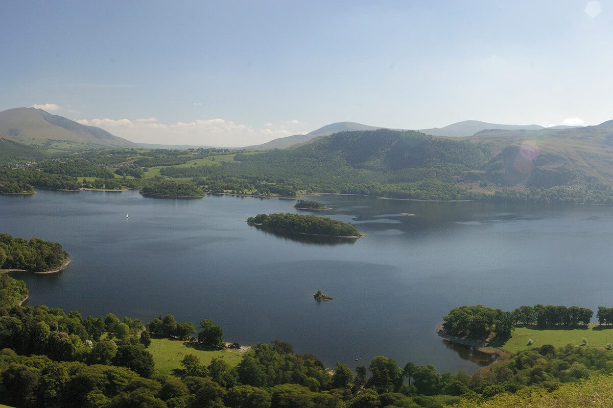 Looking across Derwentwater towards Walla Crag