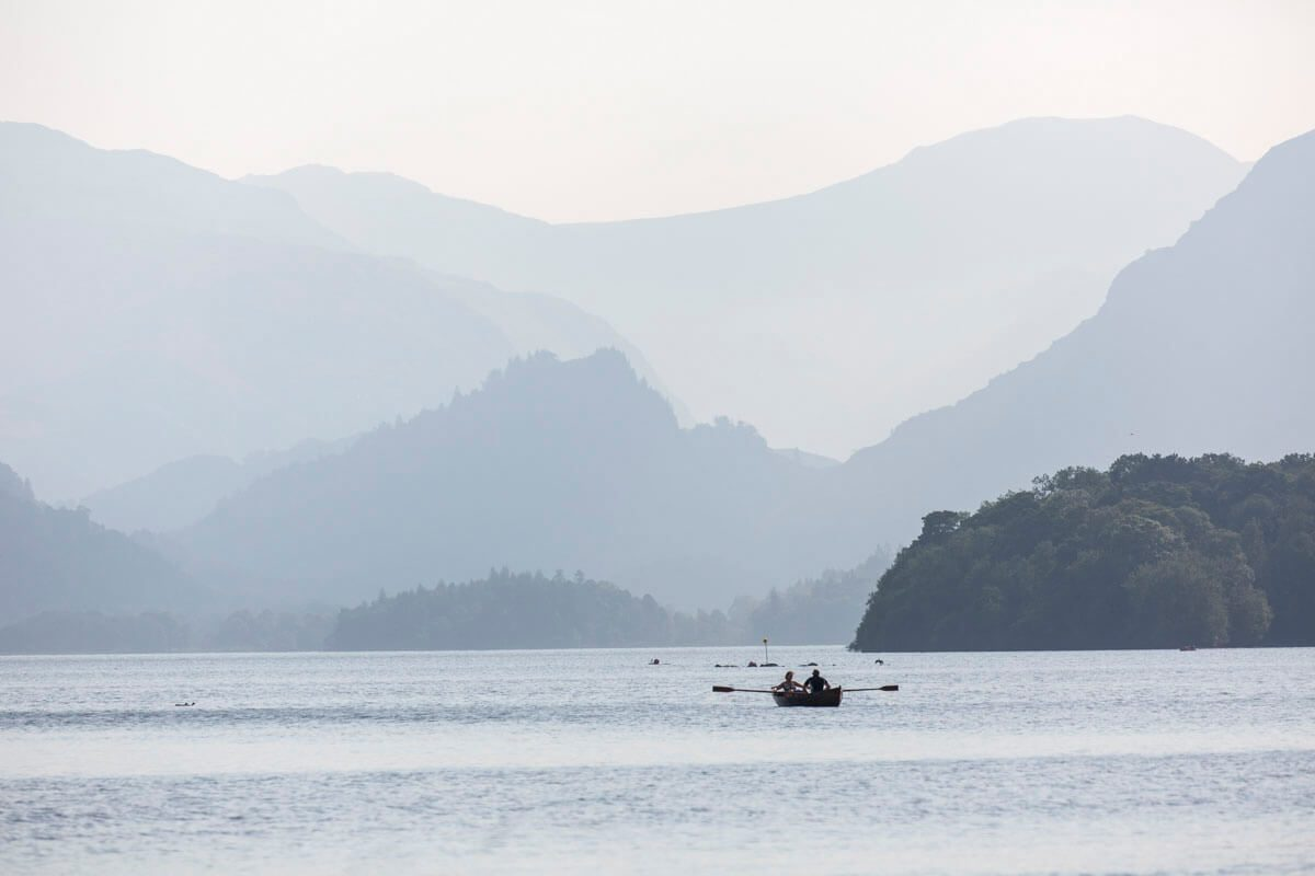 Rowing boat hire on Derwentwater
