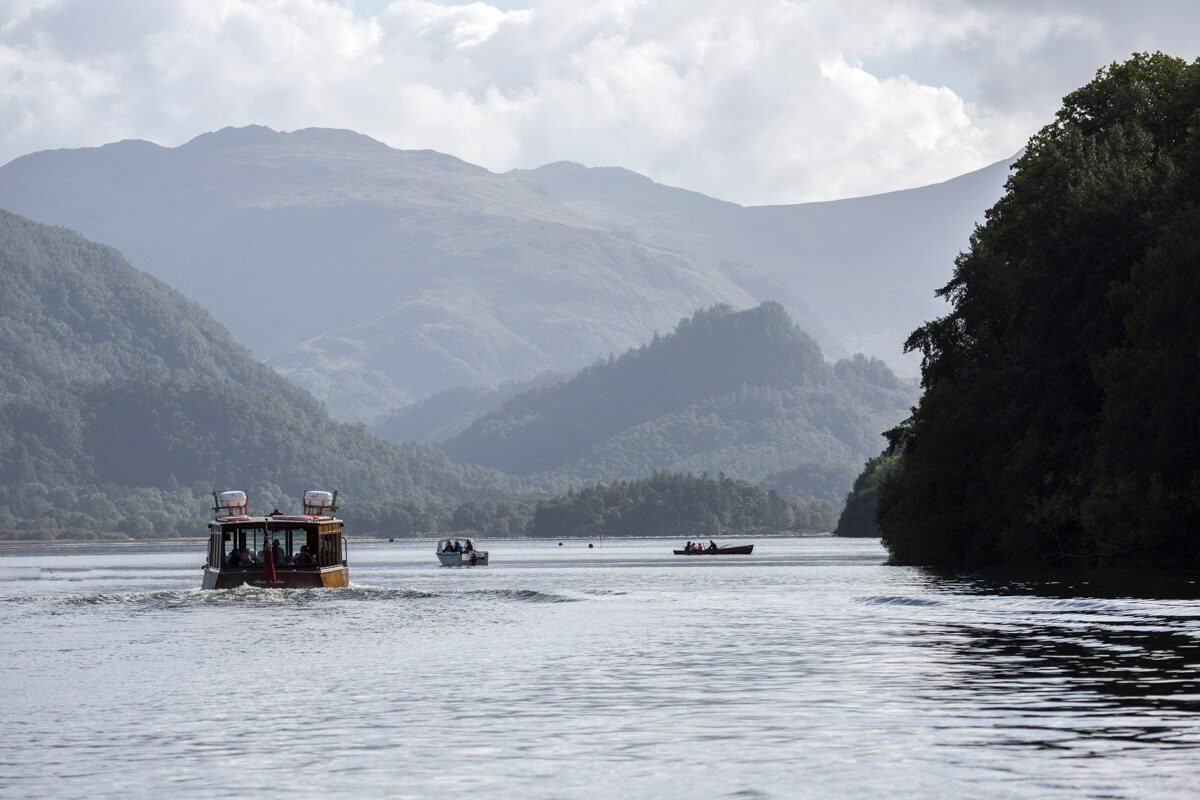 Launch sailing into the 'Jaws of Borrowdale'