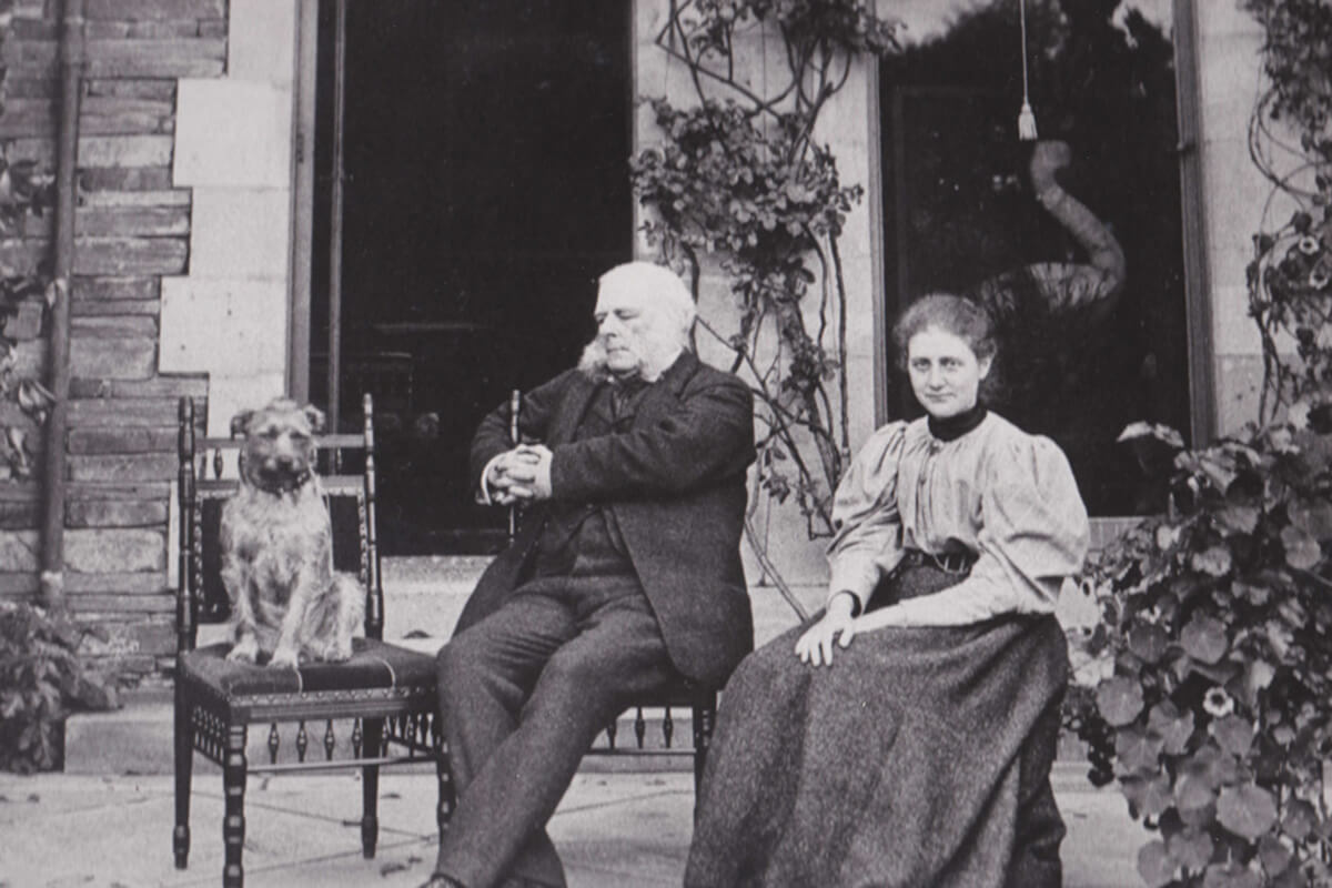 Beatrix Potter and her Father on the East Terrace at Lingholm in 1897